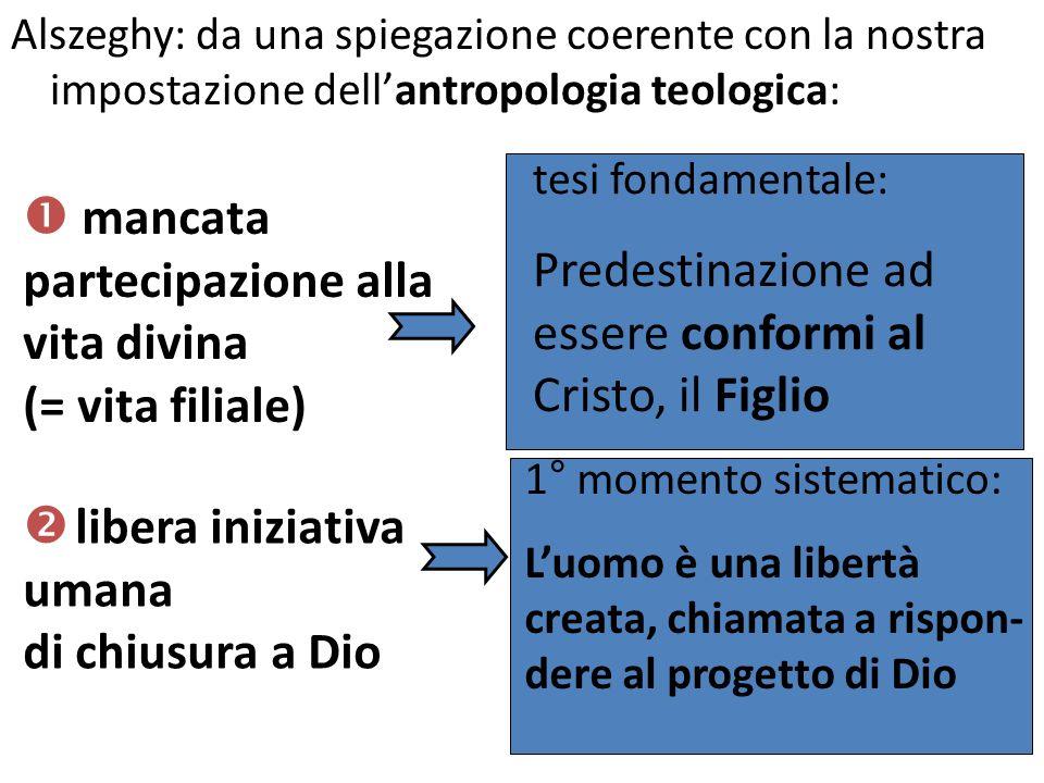 Alszeghy: da una spiegazione coerente con la nostra impostazione dellantropologia teologica: mancata partecipazione alla vita divina (= vita filiale)