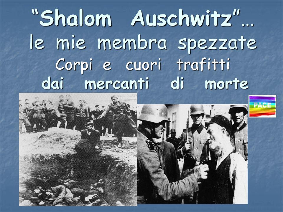 Shalom Auschwitz… le mie membra spezzateShalom Auschwitz… le mie membra spezzate Corpi e cuori trafitti dai mercanti di morte dai mercanti di morte