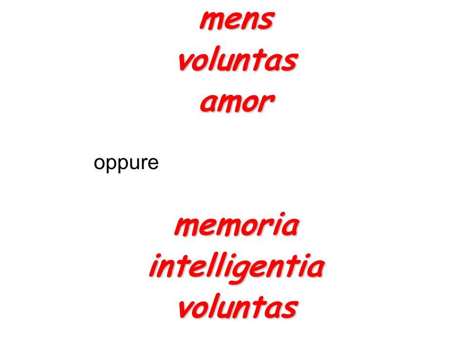 mensvoluntasamor oppurememoriaintelligentiavoluntas