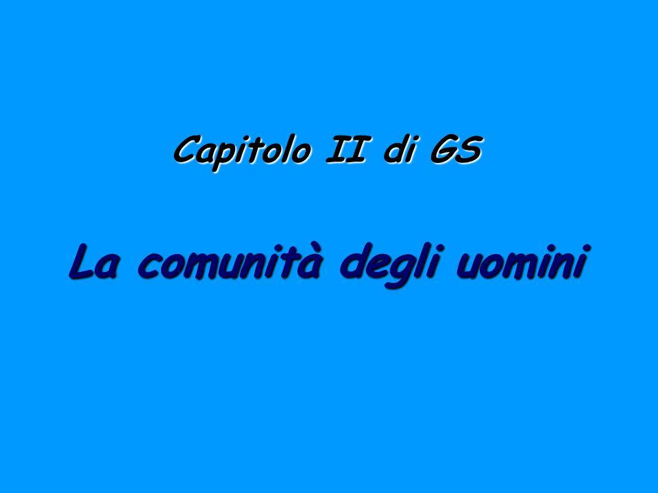 Capitolo II di GS La comunità degli uomini