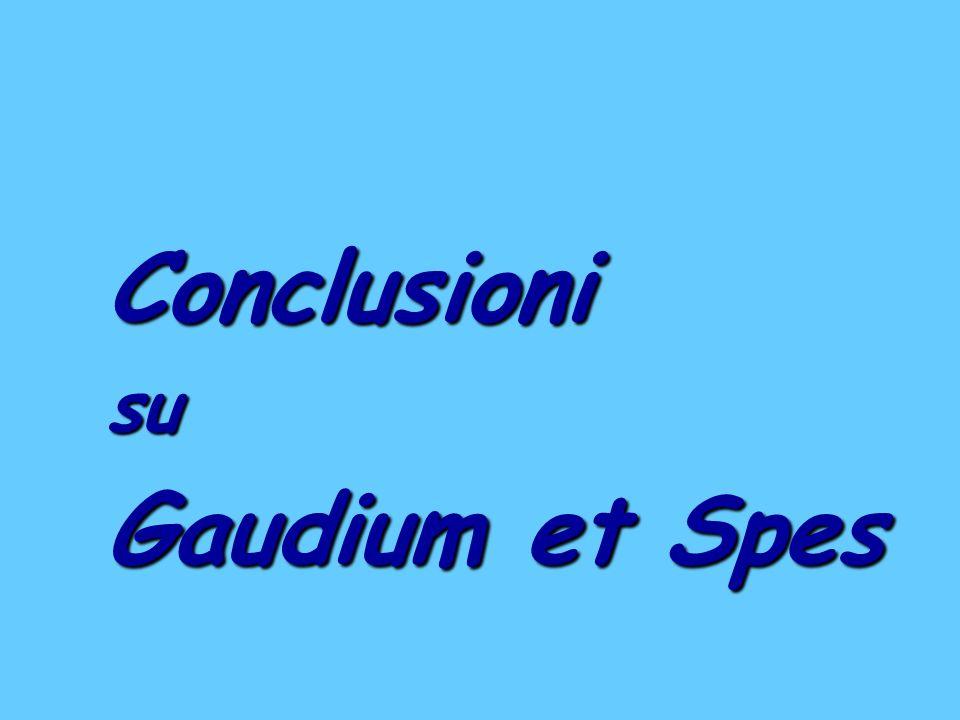 Conclusionisu Gaudium et Spes
