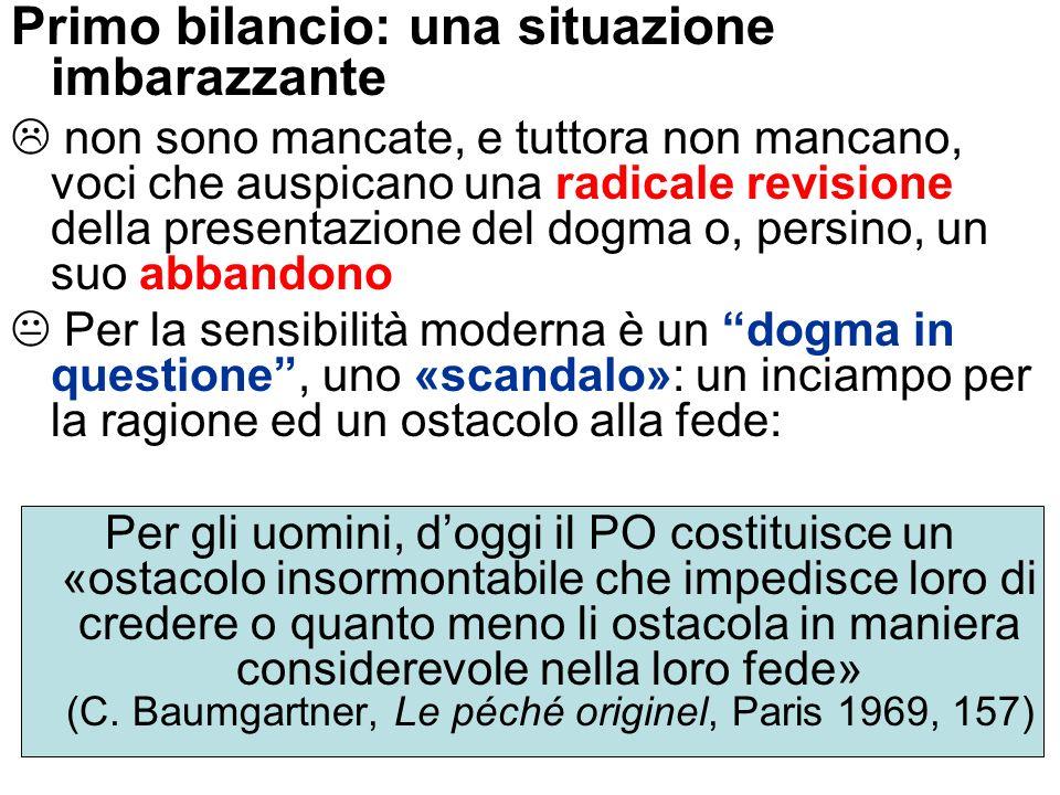 Per lapologetica tradizionale il PO poteva essere invocato come «la pietra angolare» della comprensione cristiana dellesistenza P.