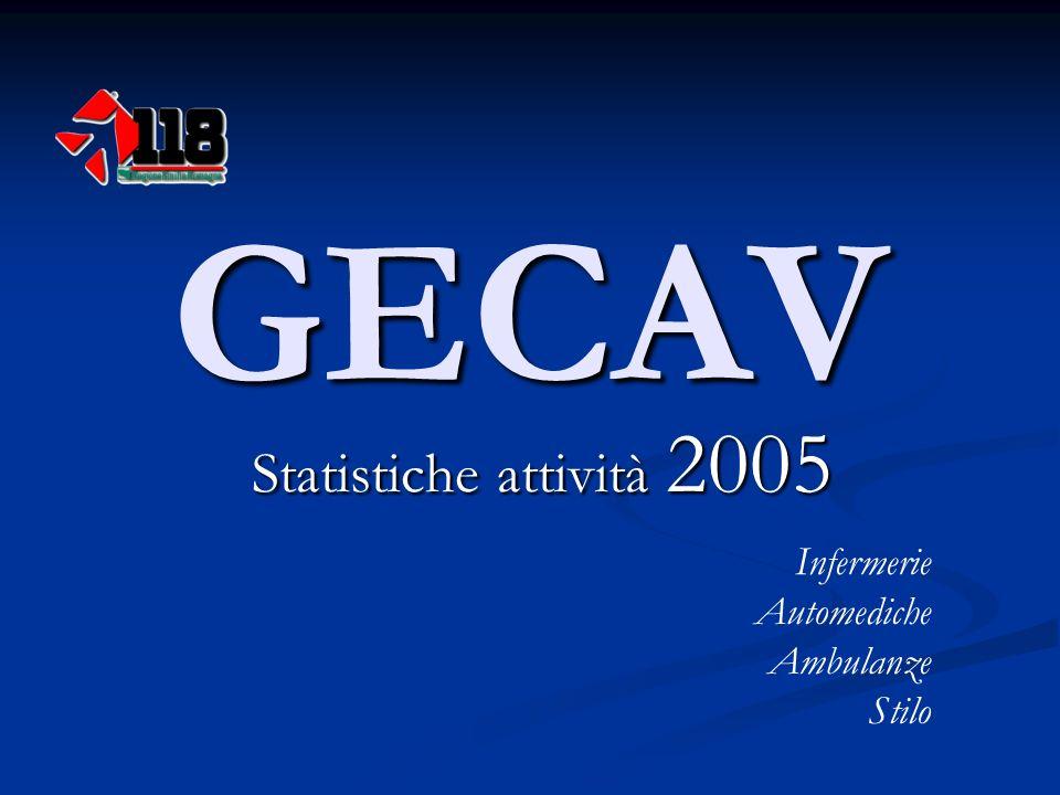 GECAV Statistiche attività 2005 Infermerie Automediche Ambulanze Stilo