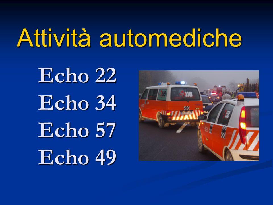 Attività automediche Echo 22 Echo 34 Echo 57 Echo 49