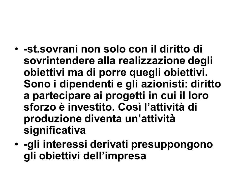 -st.sovrani non solo con il diritto di sovrintendere alla realizzazione degli obiettivi ma di porre quegli obiettivi.