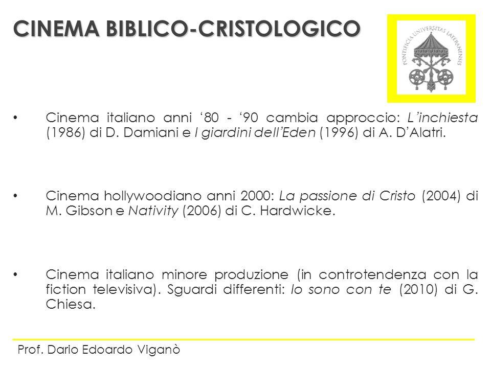 Cinema italiano anni 80 - 90 cambia approccio: Linchiesta (1986) di D. Damiani e I giardini dellEden (1996) di A. DAlatri. Cinema hollywoodiano anni 2