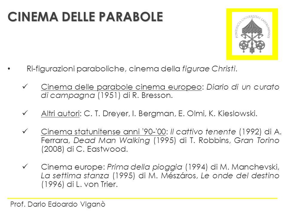 Ri-figurazioni paraboliche, cinema della figurae Christi. Cinema delle parabole cinema europeo: Diario di un curato di campagna (1951) di R. Bresson.