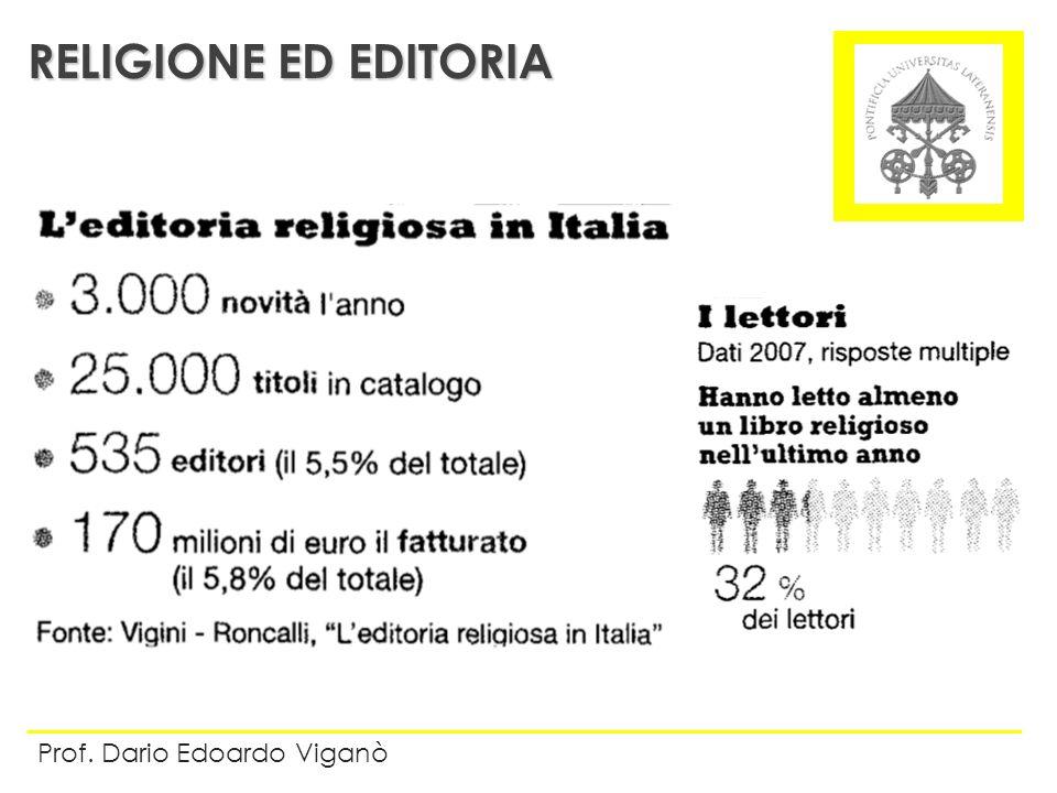RELIGIONE ED EDITORIA Prof. Dario Edoardo Viganò