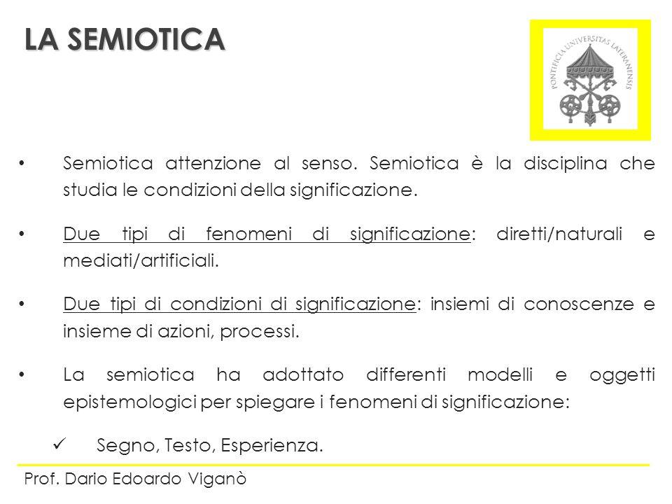Semiotica attenzione al senso. Semiotica è la disciplina che studia le condizioni della significazione. Due tipi di fenomeni di significazione: dirett
