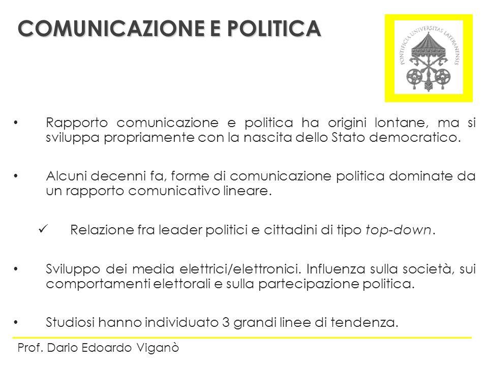 Rapporto comunicazione e politica ha origini lontane, ma si sviluppa propriamente con la nascita dello Stato democratico. Alcuni decenni fa, forme di