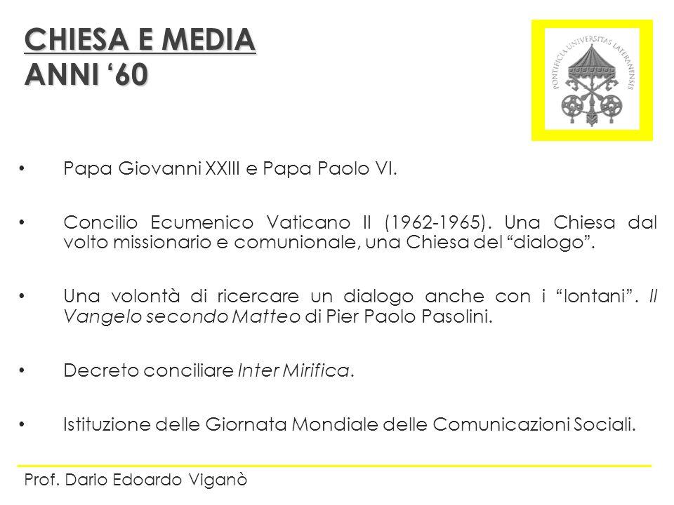 Papa Giovanni XXIII e Papa Paolo VI. Concilio Ecumenico Vaticano II (1962-1965). Una Chiesa dal volto missionario e comunionale, una Chiesa del dialog