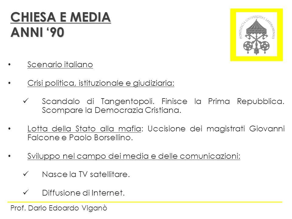 Scenario italiano Crisi politica, istituzionale e giudiziaria: Scandalo di Tangentopoli. Finisce la Prima Repubblica. Scompare la Democrazia Cristiana