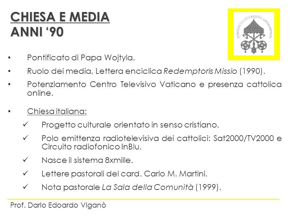 Pontificato di Papa Wojtyla. Ruolo dei media, Lettera enciclica Redemptoris Missio (1990). Potenziamento Centro Televisivo Vaticano e presenza cattoli