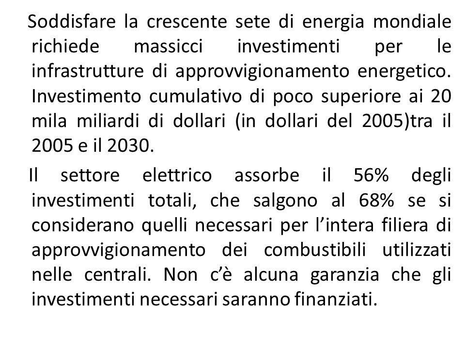 Soddisfare la crescente sete di energia mondiale richiede massicci investimenti per le infrastrutture di approvvigionamento energetico.