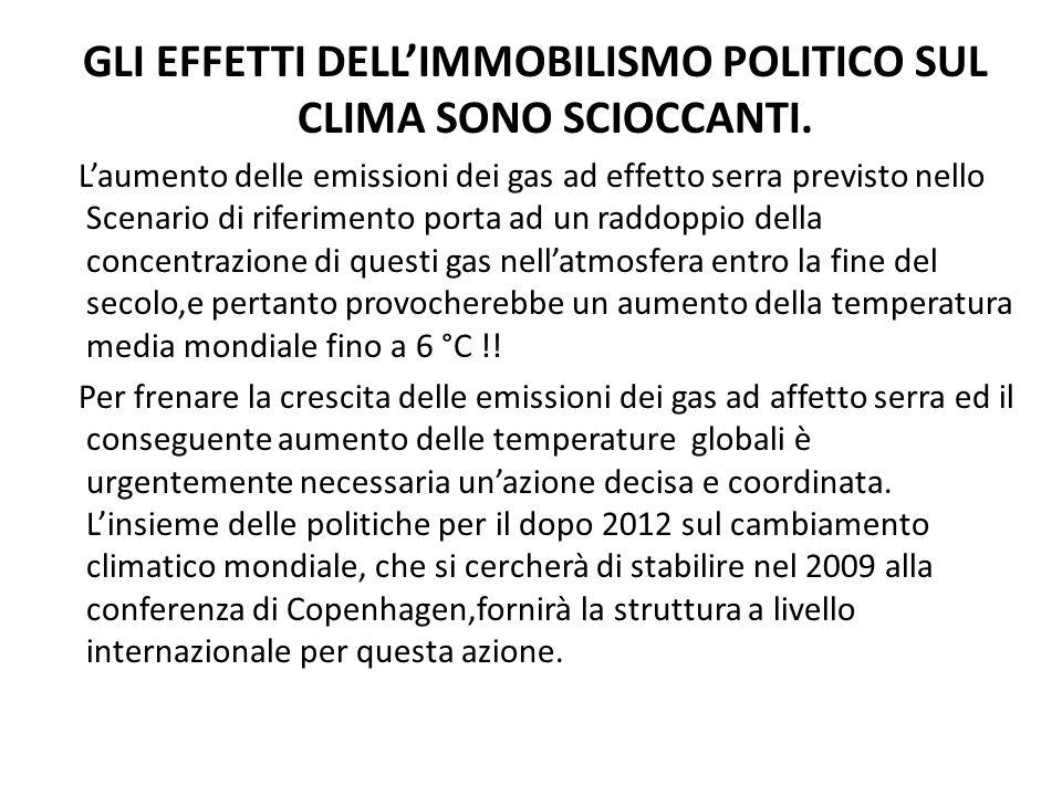 GLI EFFETTI DELLIMMOBILISMO POLITICO SUL CLIMA SONO SCIOCCANTI.