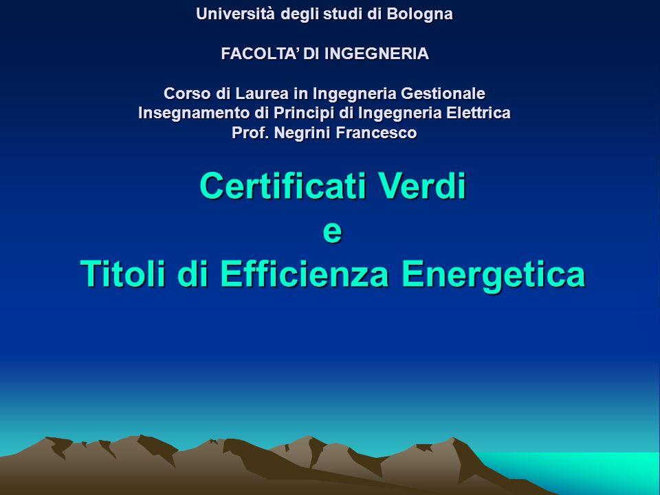 Università degli studi di Bologna FACOLTA DI INGEGNERIA Corso di Laurea in Ingegneria Gestionale Insegnamento di Principi di Ingegneria Elettrica Prof