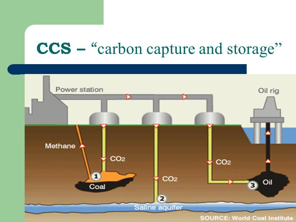 CCS – carbon capture and storage