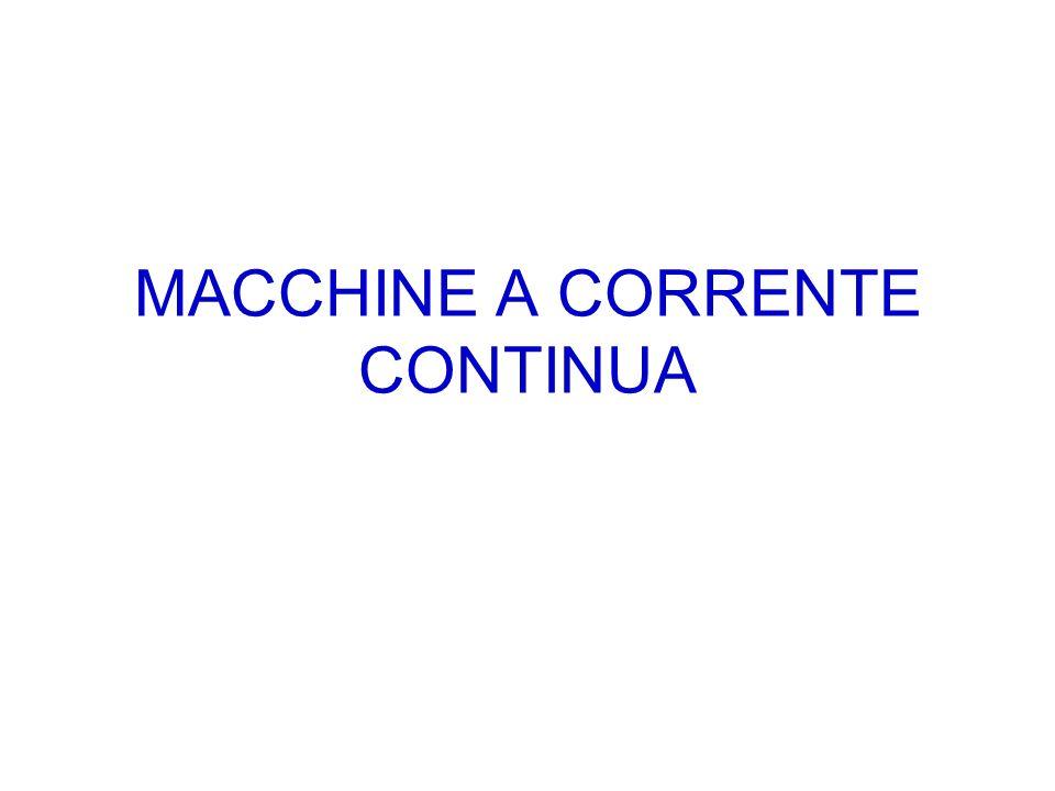 CARATTERISTICHE COSTRUTTIVE Anello di Pacinotti Sia lo statore che il rotore di una macchina a corrente continua sono sede di un avvolgimento che viene percorso da una corrente continua.
