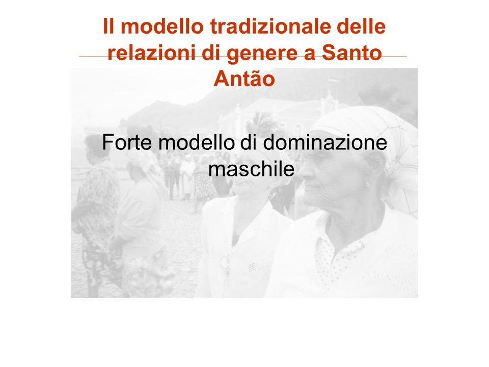 Forte modello di dominazione maschile Il modello tradizionale delle relazioni di genere a Santo Antão