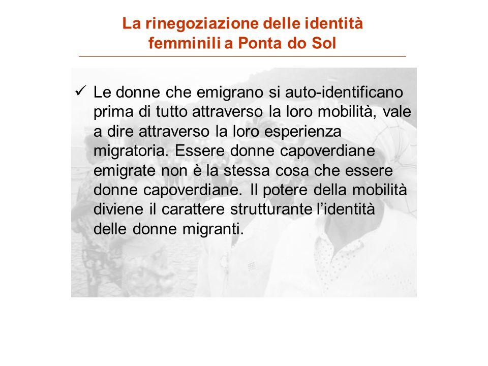 Le donne che emigrano si auto-identificano prima di tutto attraverso la loro mobilità, vale a dire attraverso la loro esperienza migratoria. Essere do