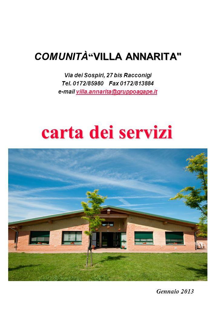 carta dei servizi carta dei servizi VILLA ANNARITA