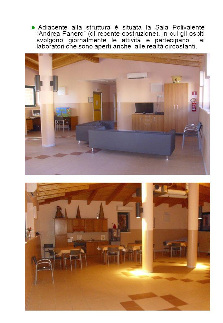 12 Adiacente alla struttura è situata la Sala Polivalente Andrea Panero (di recente costruzione), in cui gli ospiti svolgono giornalmente le attività