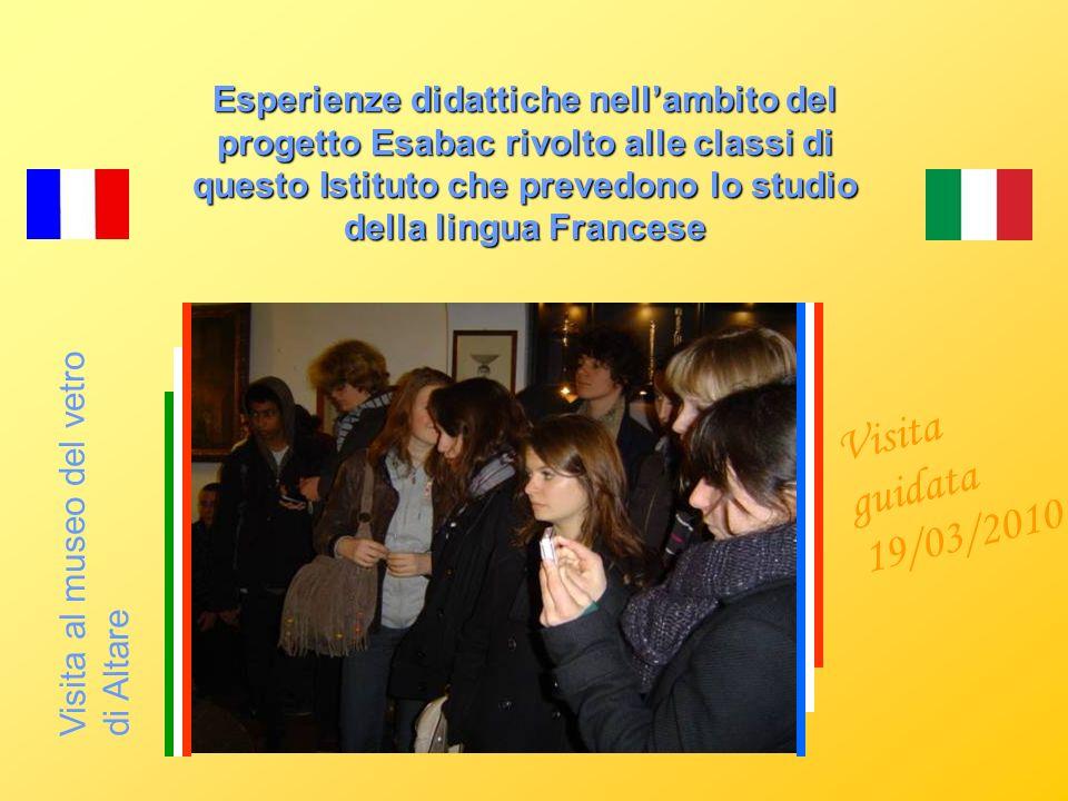 Visita a VILLA NOBEL a Sanremo Esperienze didattiche nellambito del progetto Esabac rivolto alle classi di questo Istituto che prevedono lo studio del