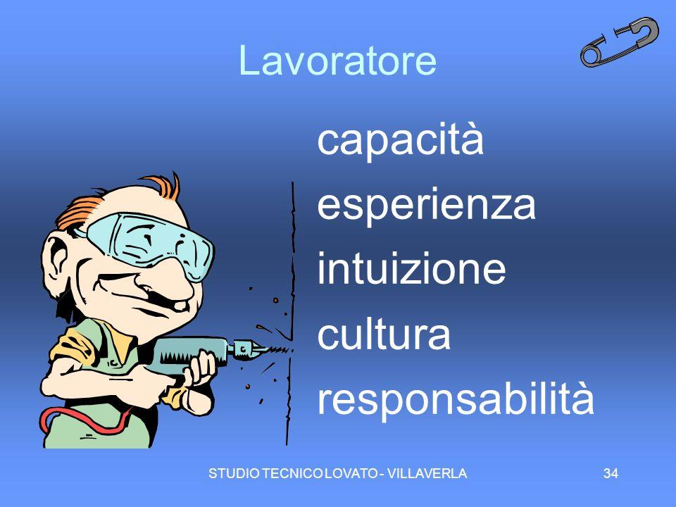 STUDIO TECNICO LOVATO - VILLAVERLA34 Lavoratore capacità esperienza intuizione cultura responsabilità