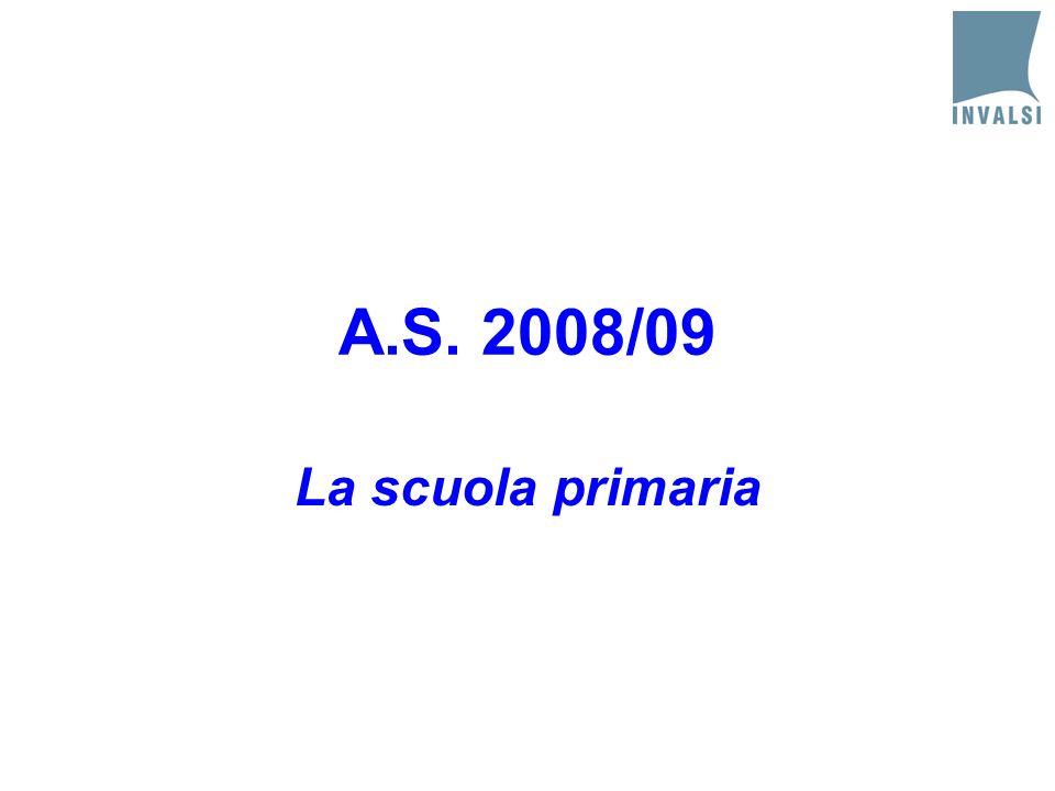 A.S. 2008/09 La scuola primaria