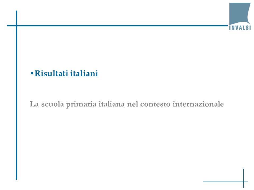 Risultati italiani La scuola primaria italiana nel contesto internazionale