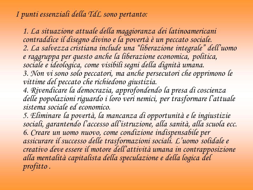 I punti essenziali della TdL sono pertanto: 1.