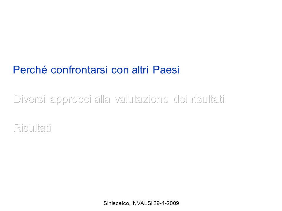 Siniscalco, INVALSI 29-4-2009