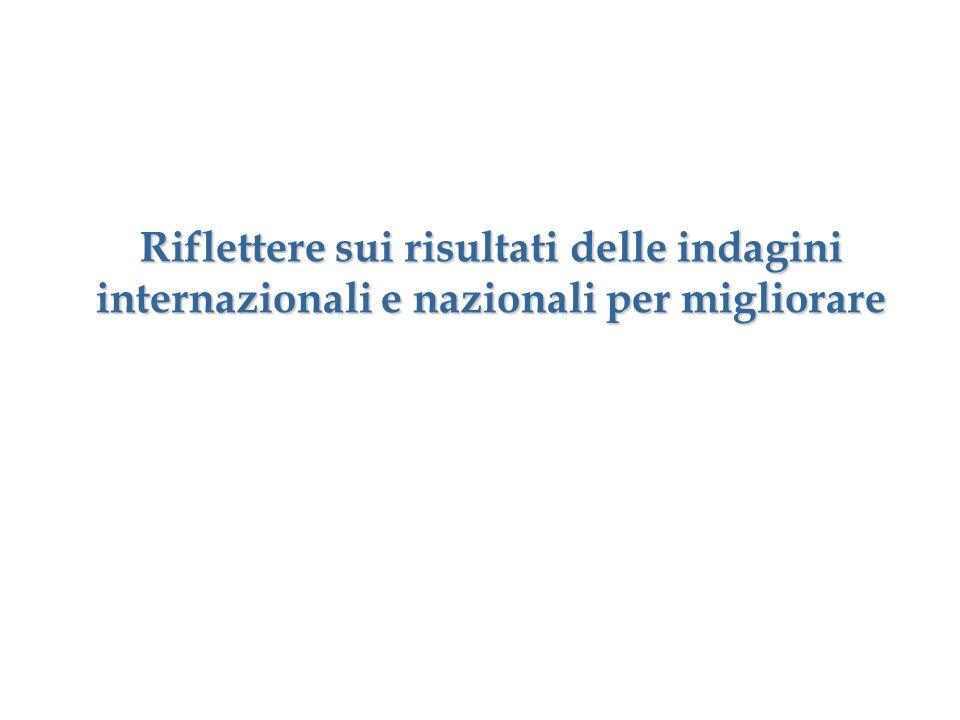 Riflettere sui risultati delle indagini internazionali e nazionali per migliorare