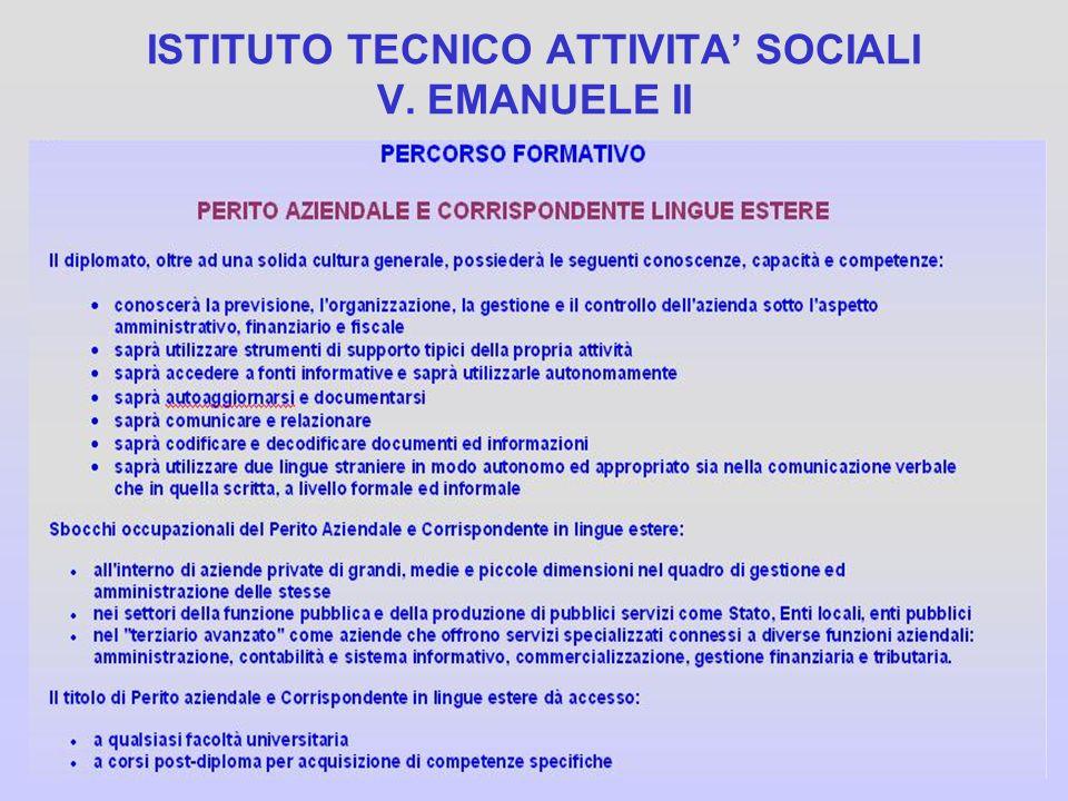 ISTITUTO TECNICO ATTIVITA SOCIALI V. EMANUELE II