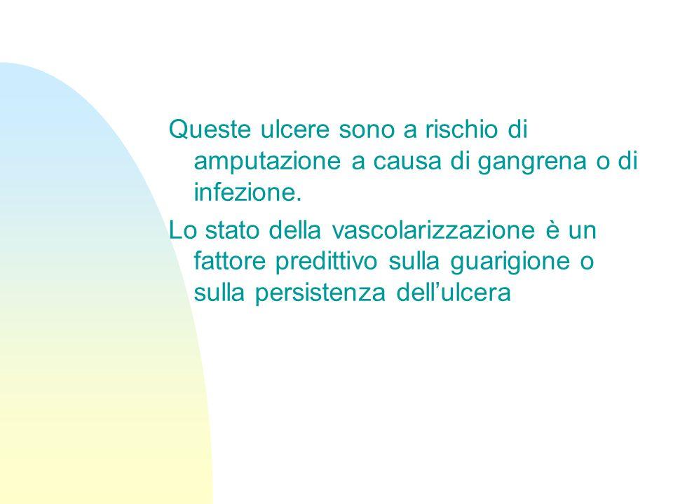 5 gradi per classificare queste ulcere (Wagner grading system): grado 1: superficiale grado 2: ulcera ai legamenti, tendini, capsula articolare, fasci