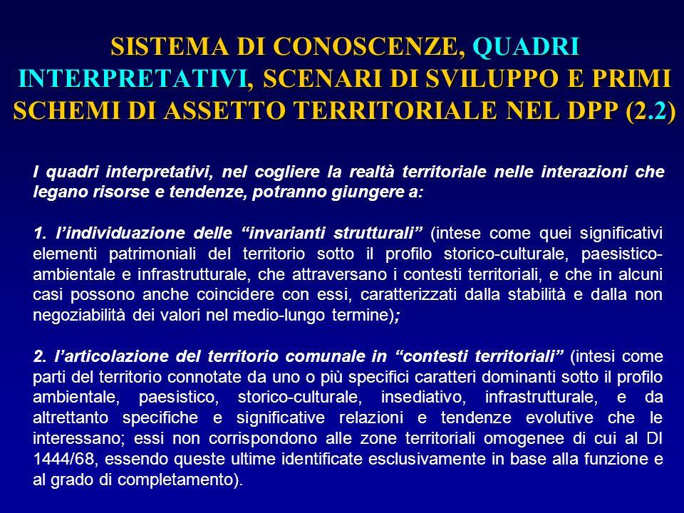 I CONTESTI TERRITORIALI (5) I contenuti progettuali, coerentemente con gli obiettivi su esposti, saranno così articolati: a.