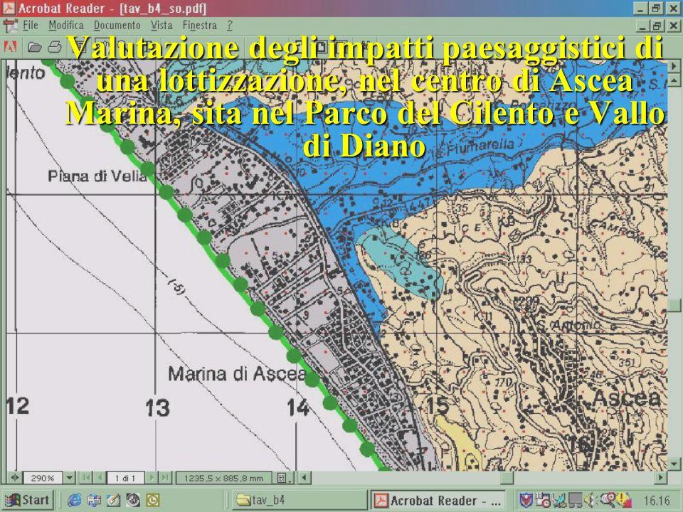 Valutazione degli impatti paesaggistici di una lottizzazione, nel centro di Ascea Marina, sita nel Parco del Cilento e Vallo di Diano