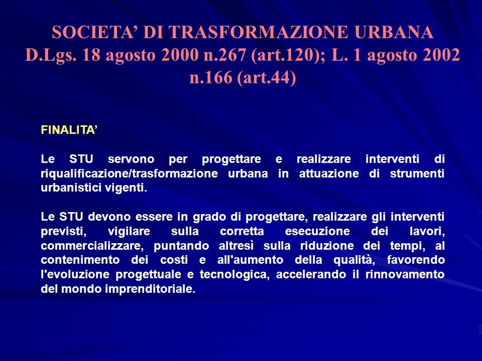 FINALITA Le STU servono per progettare e realizzare interventi di riqualificazione/trasformazione urbana in attuazione di strumenti urbanistici vigent