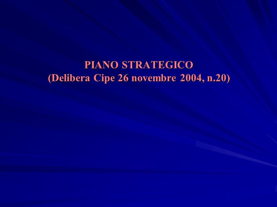 PIANO STRATEGICO (Delibera Cipe 26 novembre 2004, n.20)