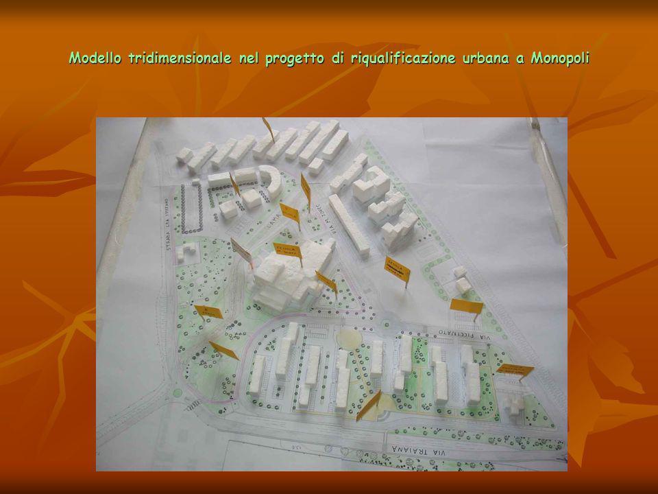 Modello tridimensionale nel progetto di riqualificazione urbana a Monopoli