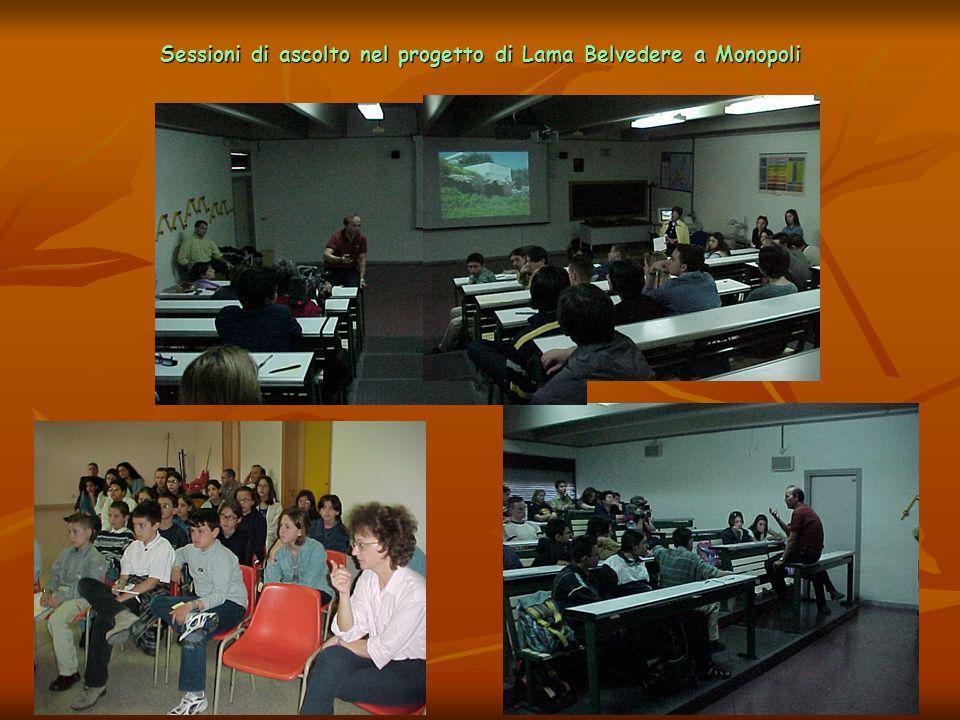 Sessioni di ascolto nel progetto di Lama Belvedere a Monopoli