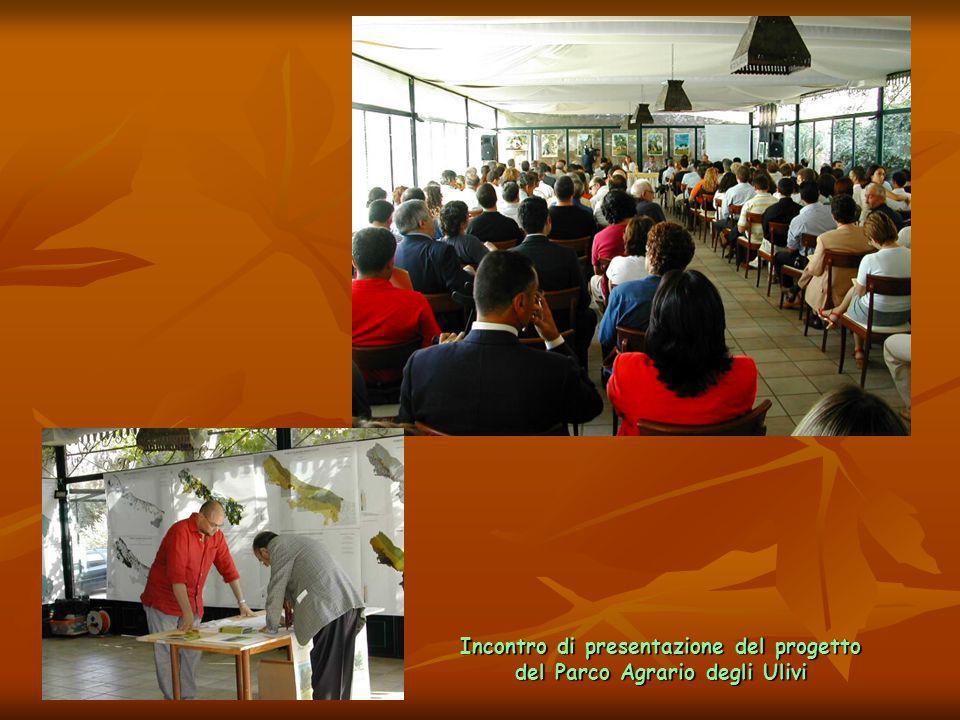 Incontro di presentazione del progetto del Parco Agrario degli Ulivi