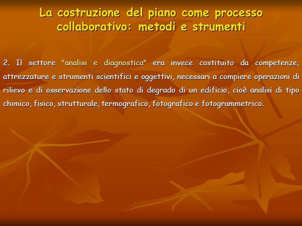 La costruzione del piano come processo collaborativo: metodi e strumenti 2. Il settore