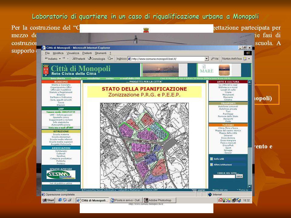 Per la costruzione del Contratto di quartiere II, è stata attivata la progettazione partecipata per mezzo del Laboratorio di Quartiere, ubicato nella