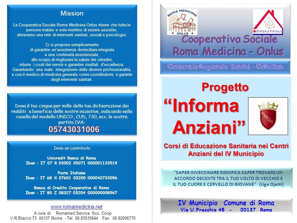 IV Municipio Comune di Roma Via U.Fracchia 45 - 00137 Roma