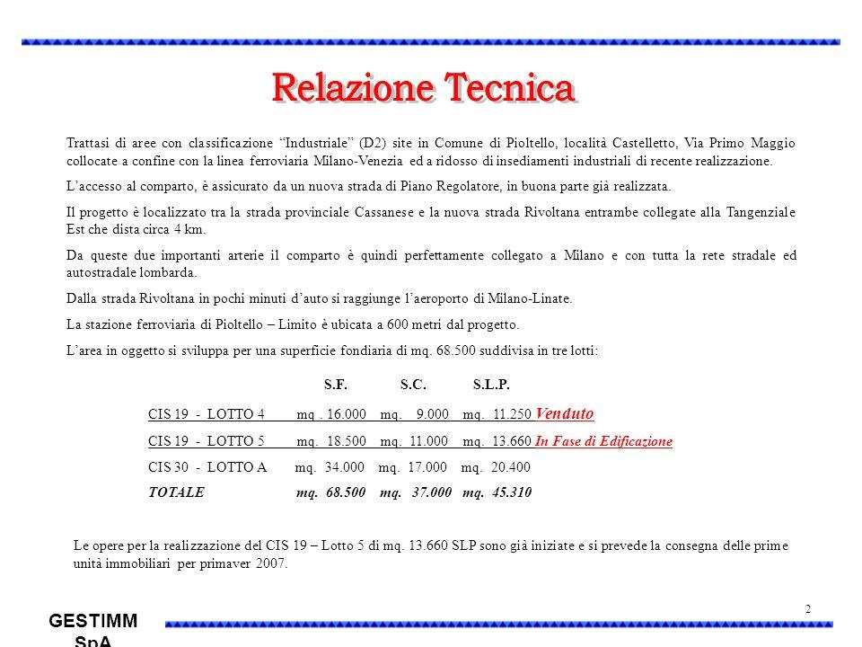 Trattasi di aree con classificazione Industriale (D2) site in Comune di Pioltello, località Castelletto, Via Primo Maggio collocate a confine con la l