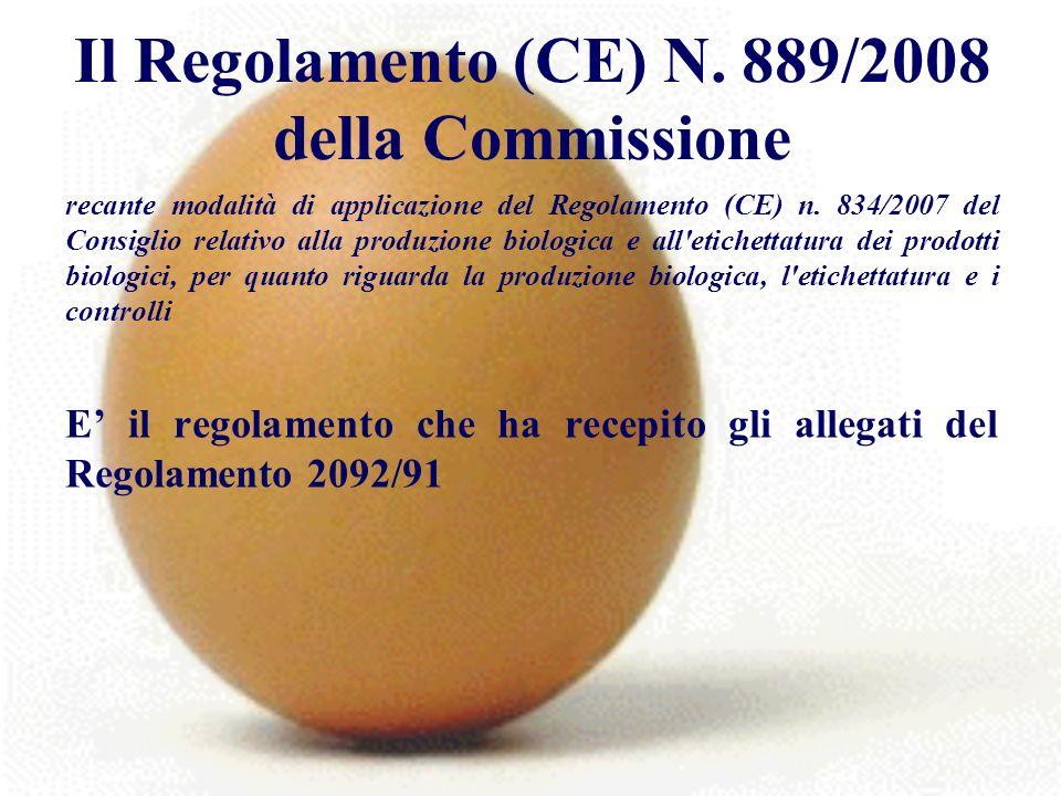 Il Regolamento (CE) N.