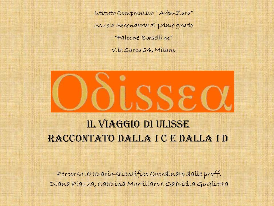 Il viaggio di Ulisse raccontato dalla I C e dalla I D Percorso letterario-scientifico Coordinato dalle proff. Diana Piazza, Caterina Mortillaro e Gabr