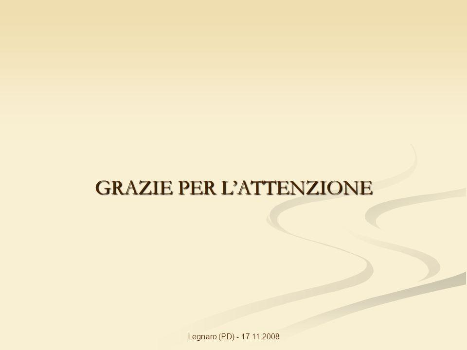 Legnaro (PD) - 17.11.2008 GRAZIE PER LATTENZIONE