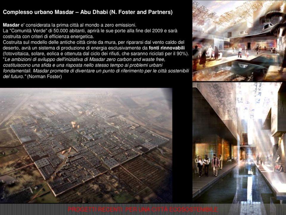 Progetto di riqualificazione delle aree ex Falck a Milano (Renzo Piano) Il progetto è caratterizzato da una visione strategica globale tesa a una possibile autonomia energetica, attraverso lutilizzo di sistemi che coniugano bassa dispersione e alto rendimento.